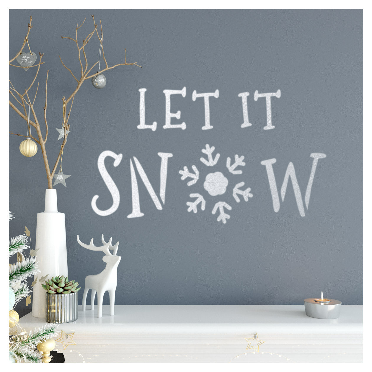 CraftStar Large Let It Snow Stencil on Wall