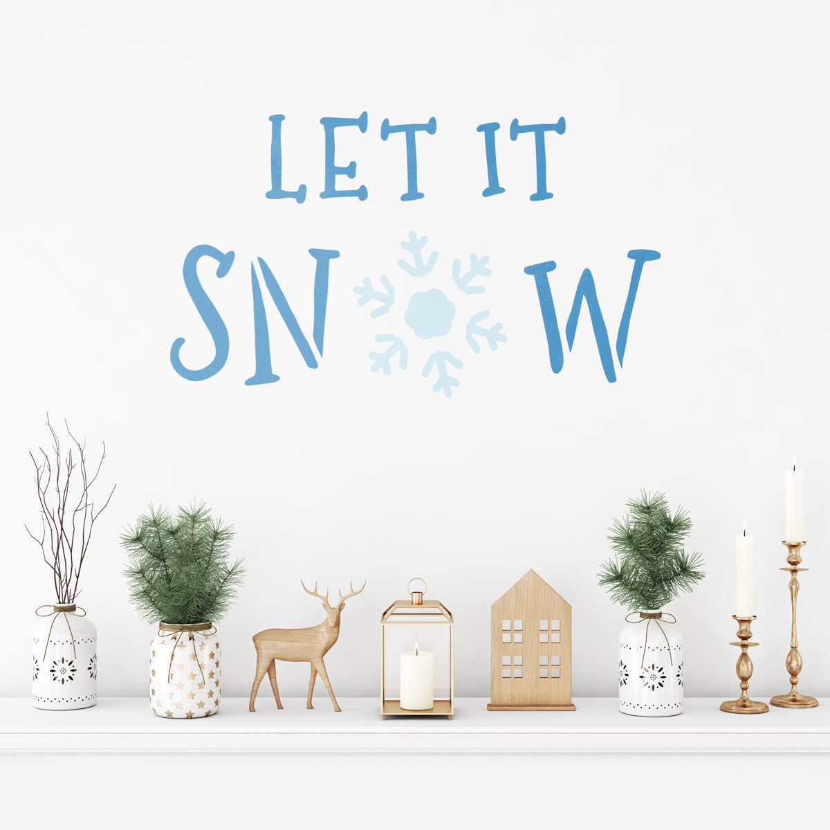 CraftStar Large Let It Snow Stencil