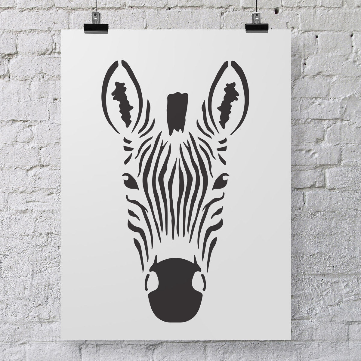 CraftStar Zebra Head Wall Stencil