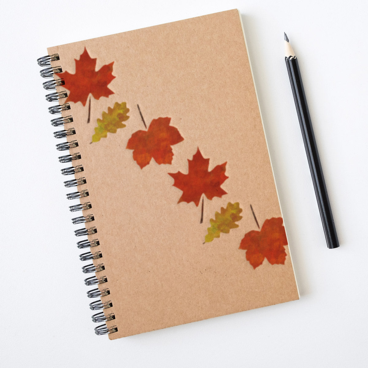 CraftStar Leaf Stencils on Notebook