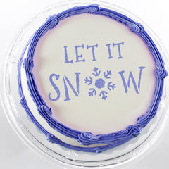CraftStar Let It Snow Christmas Text Stencil on Christmas Cake