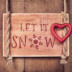 CraftStar Let It Snow Christmas Text Stencil as a Festive Sign