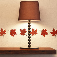CraftStar Maple Leaf Stencil on Wall