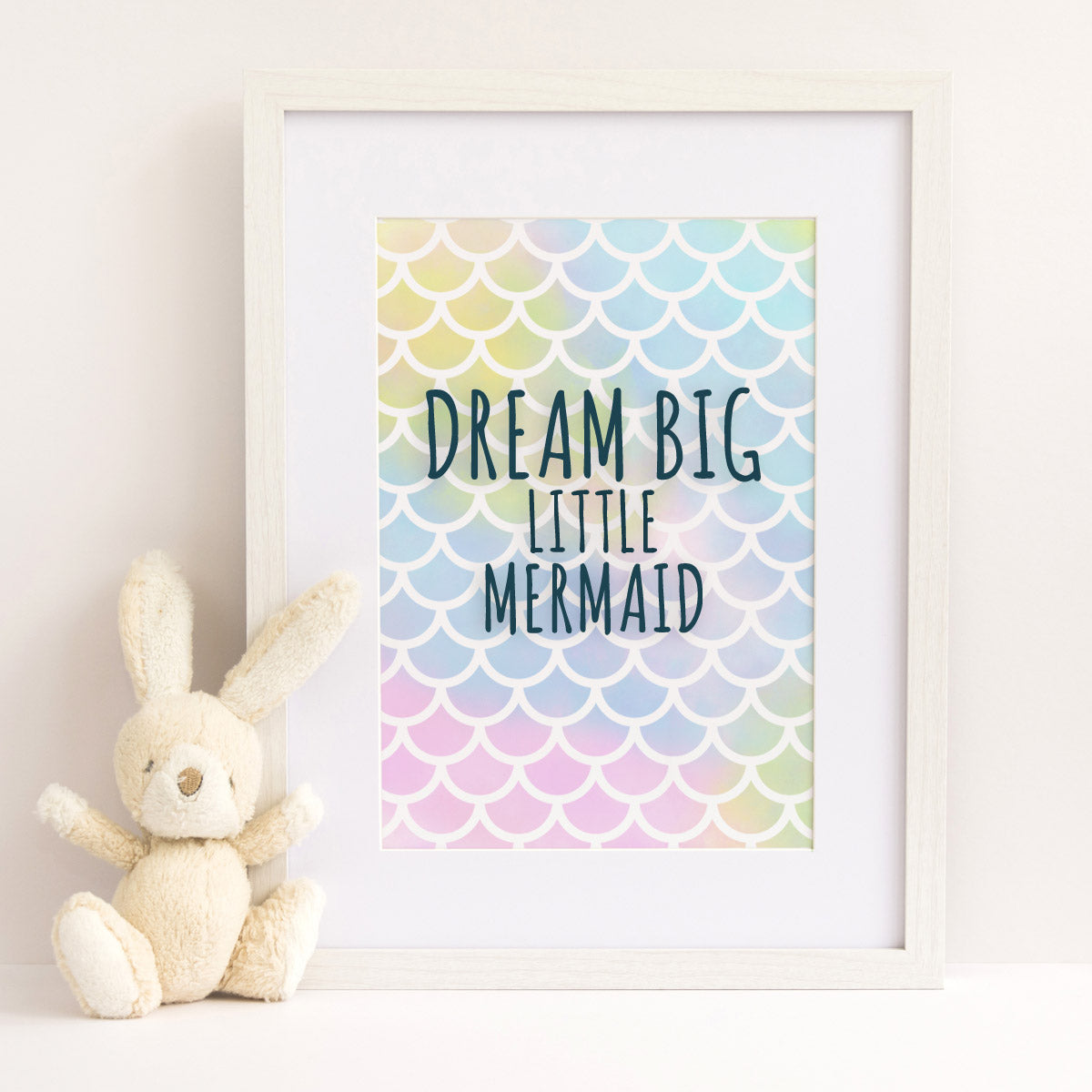 Craftstar Mermaid Scales Stencil Framed Picture