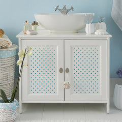 CraftStar Mini Polka Dot Stencil on Furniture
