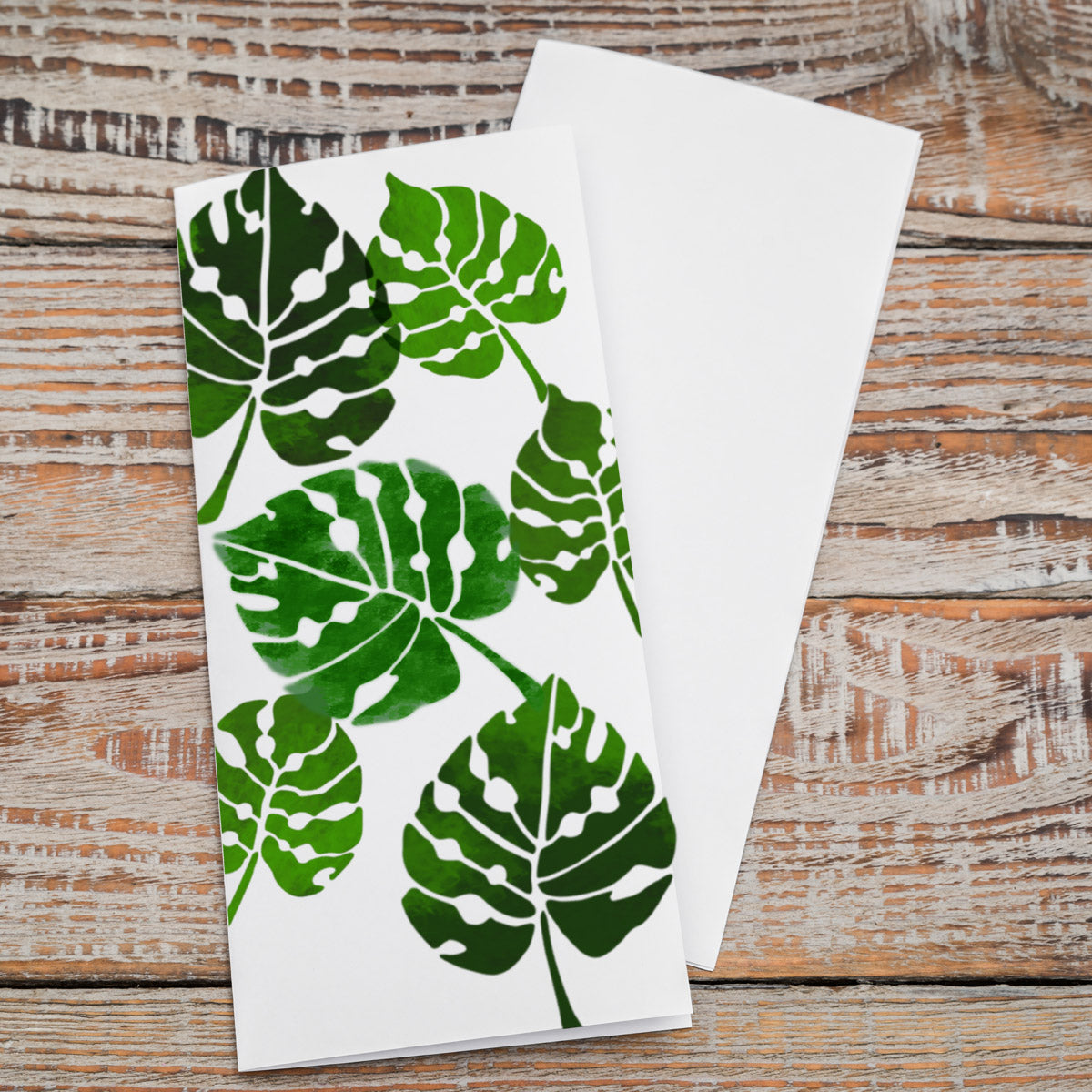 CraftStar Monstera Leaf Stencil Set on card