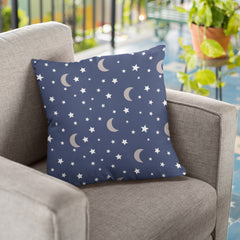 CraftStar Moon and Stars Pattern Stencil  on fabric