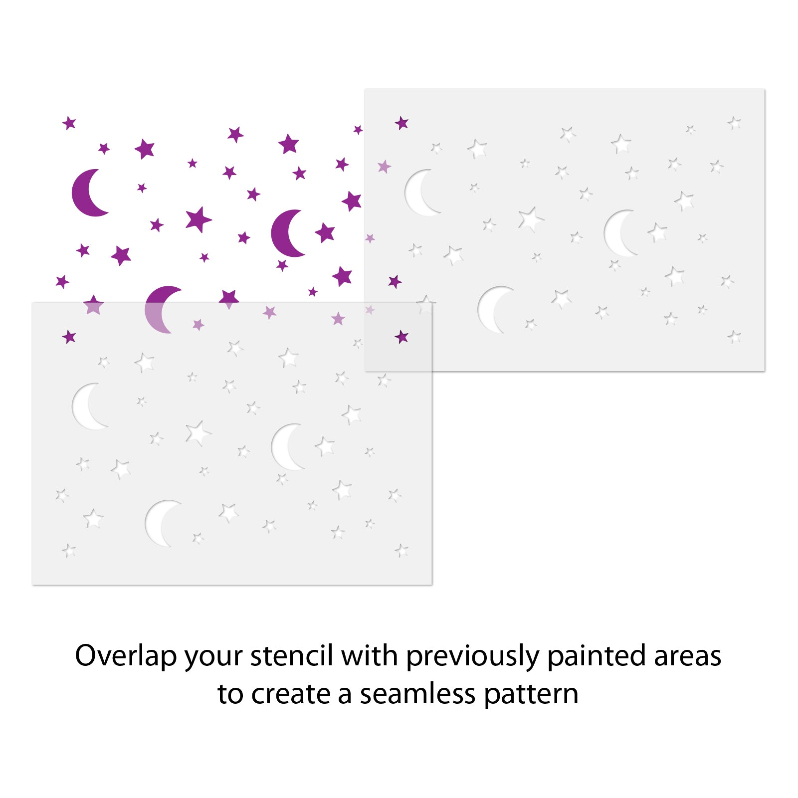 CraftStar Moon and Stars Pattern Stencil use guide