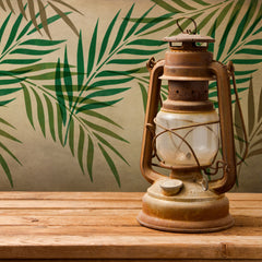 CraftStar Palm Leaf Stencil - Layered on Wall