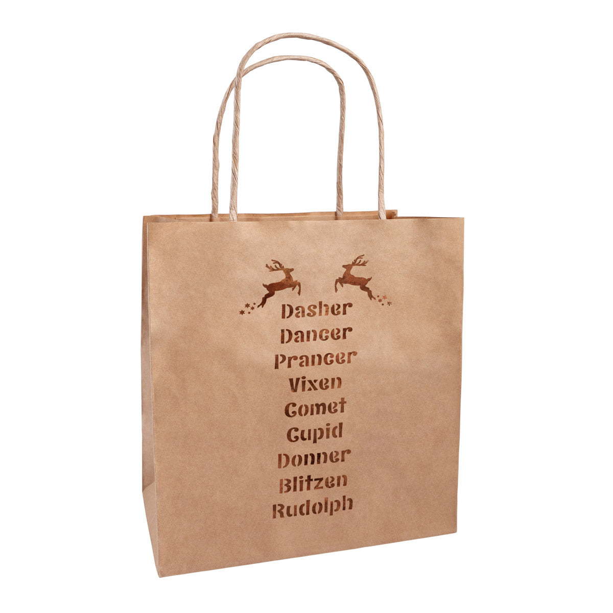 Santa's Reindeer Names Stencil on Bag