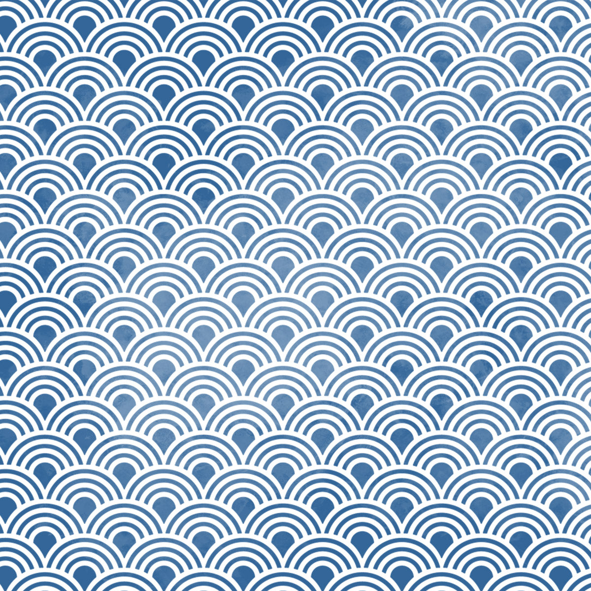 Scallop Repeating Pattern Wall Stencil Close Up View