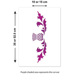 CraftStar Thistle Border Stencil Sizes