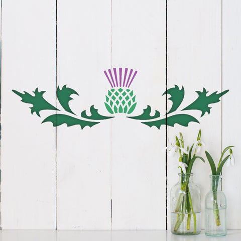 CraftStar Thistle Border Stencil