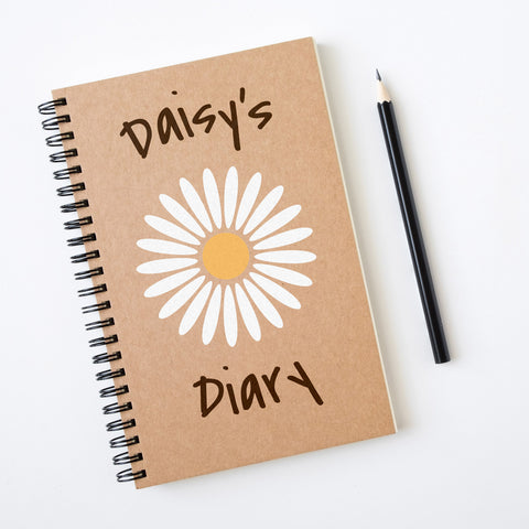 CraftStar Daisy Stencil on Notebook