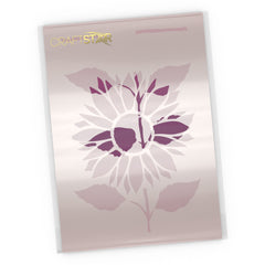 Sunflower Plant Stencil - Craft Template