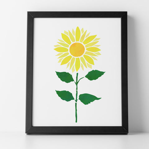 CraftStar Sunflower Plant Stencil in Frame
