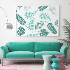 CraftStar Tropical Leaf Stencil Set as A framed Print