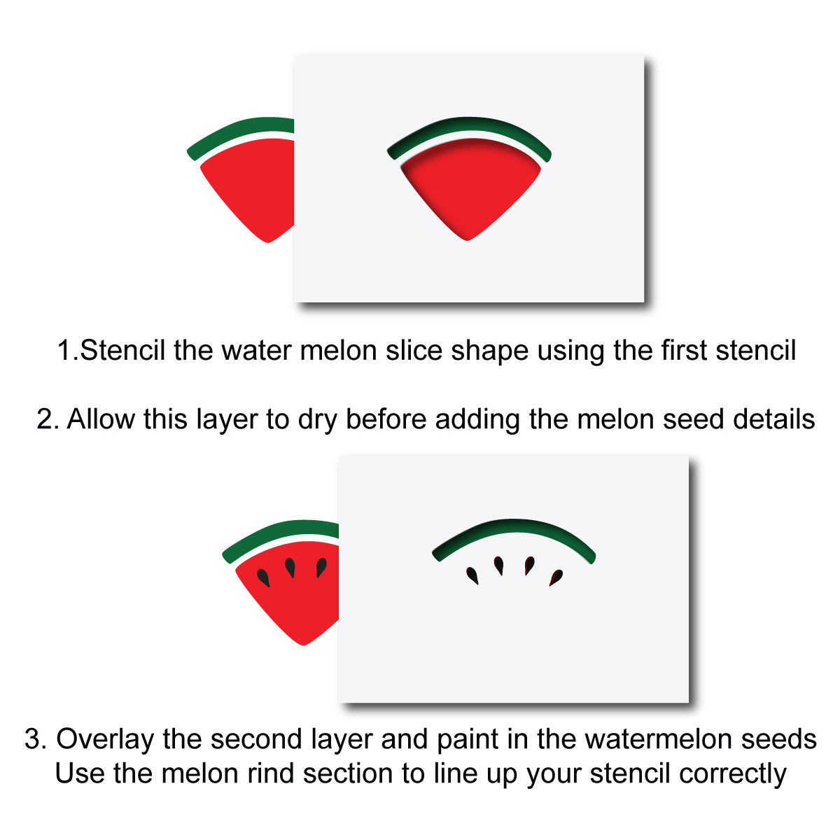 CraftStar Watermelon Slice Stencil Alignment Guide