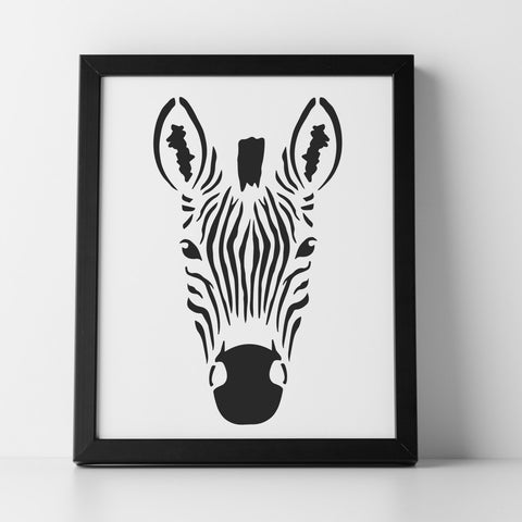 Nature tagged craft stencil craftstar zebra head stencil craft template pronofoot35fo Gallery
