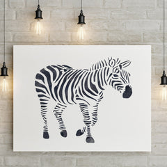 CraftStar Zebra Wall Stencil on Canvas