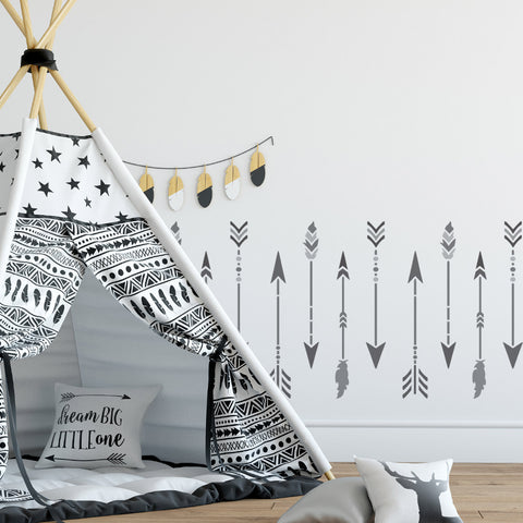 Craftstar Large Boho Arrow Stencil Set