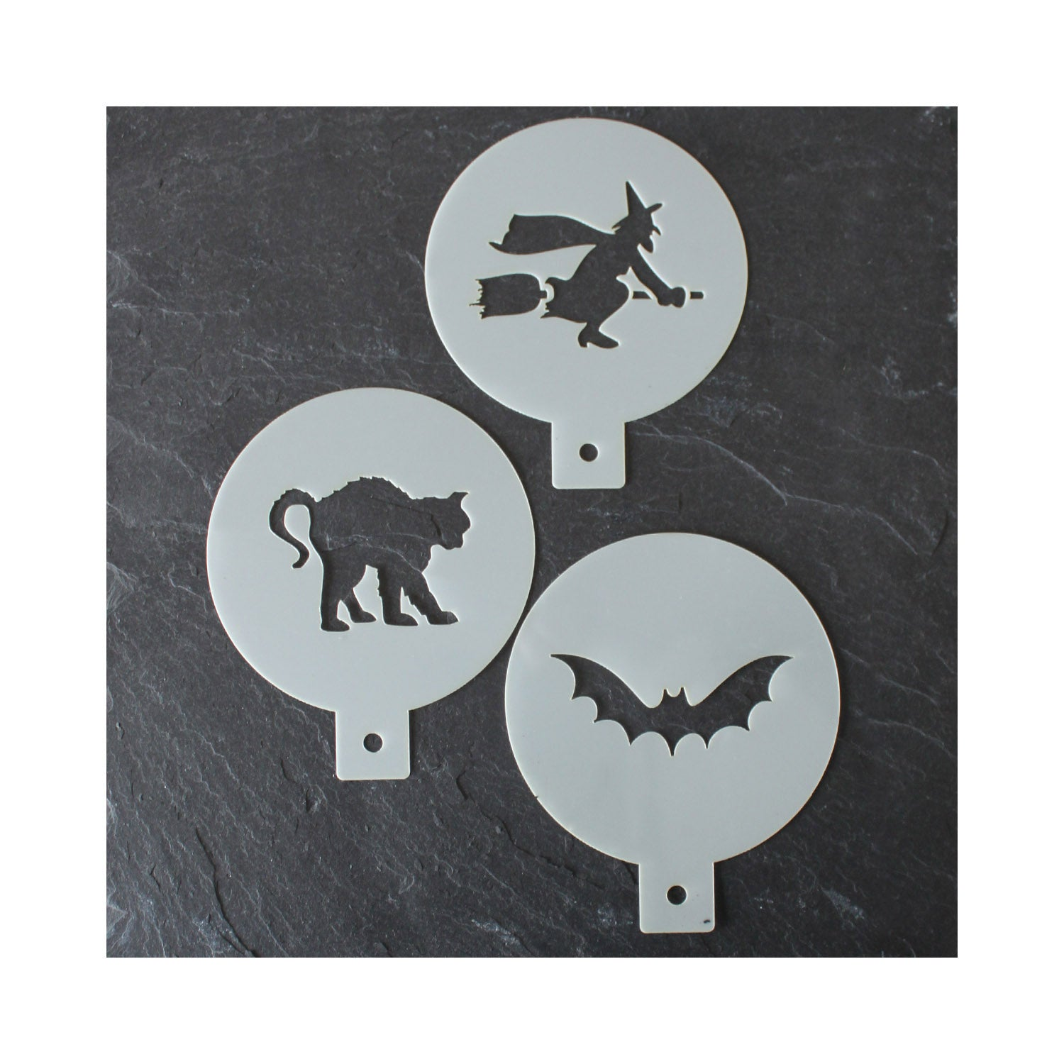 CraftStar Halloween Coffee Duster Stencils - Set of 3