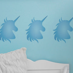 CraftStar Unicorn Stencil in blue colours