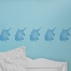 CraftStar Unicorn Stencil on Bedroom Wall