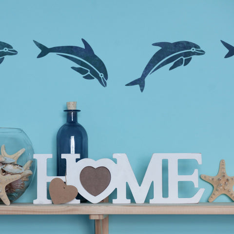 Craftstar Dolphin Stencil on wall