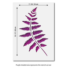 CraftStar Fern Frond Stencil Sizes