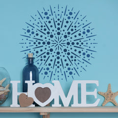 CraftStar Firework Mandala Stencil in Blues