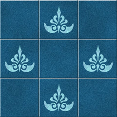 CraftStar Ornate Fleur De Lys Stencil on tiles