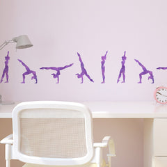 CraftStar Walkover Gymnast Stencil Set Above Desk