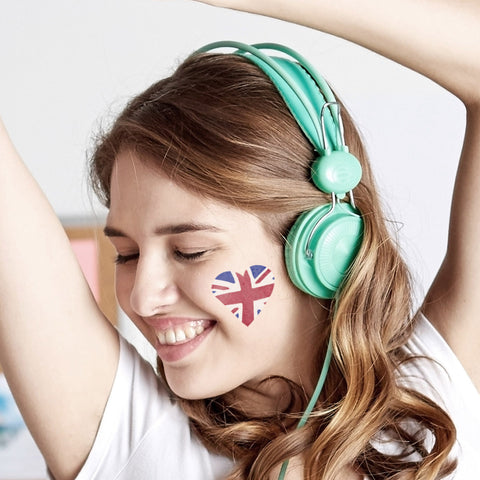 CraftStar Heart Shaped Union Jack Stencil Face Painting