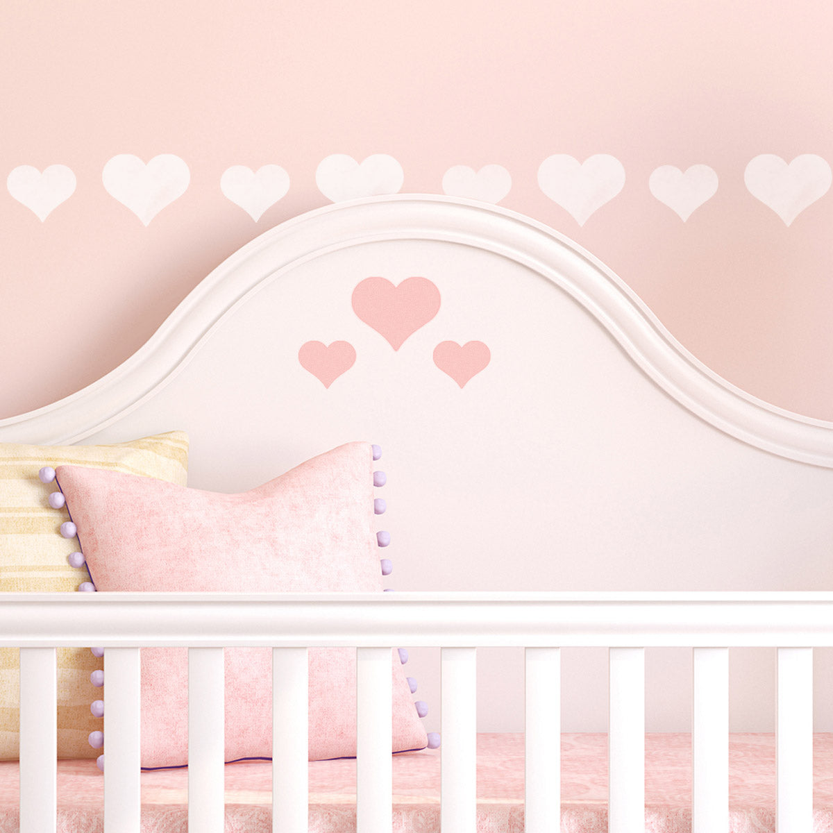 CraftStar Hearts Stencil Set in Nursery