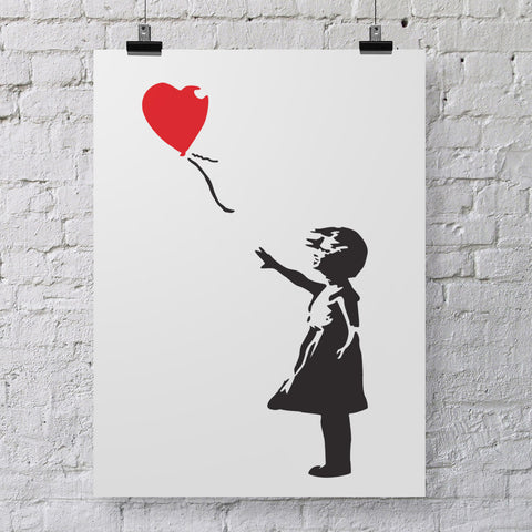 CraftStar Banksy Balloon Girl Stencil on Poster