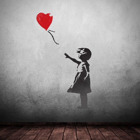 CraftStar Banksy Balloon Girl Stencil - Graffiti Wall Art
