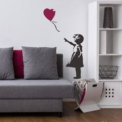 CraftStar Banksy Balloon Girl Stencil on Wall