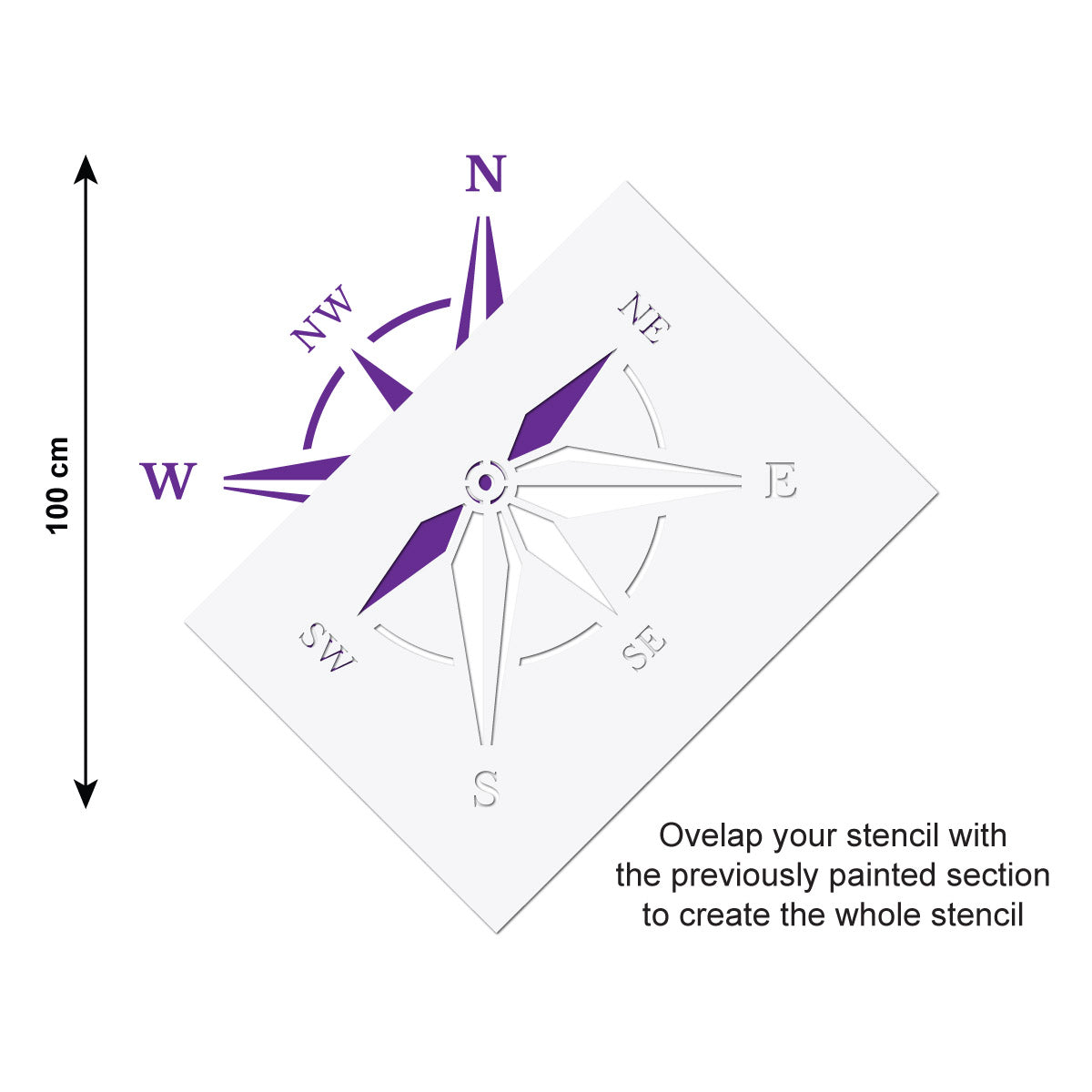 compass rose stencil large reusable home decor template craftstar