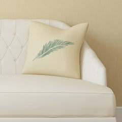 CraftStar Feather Stencil on Fabric Cushion