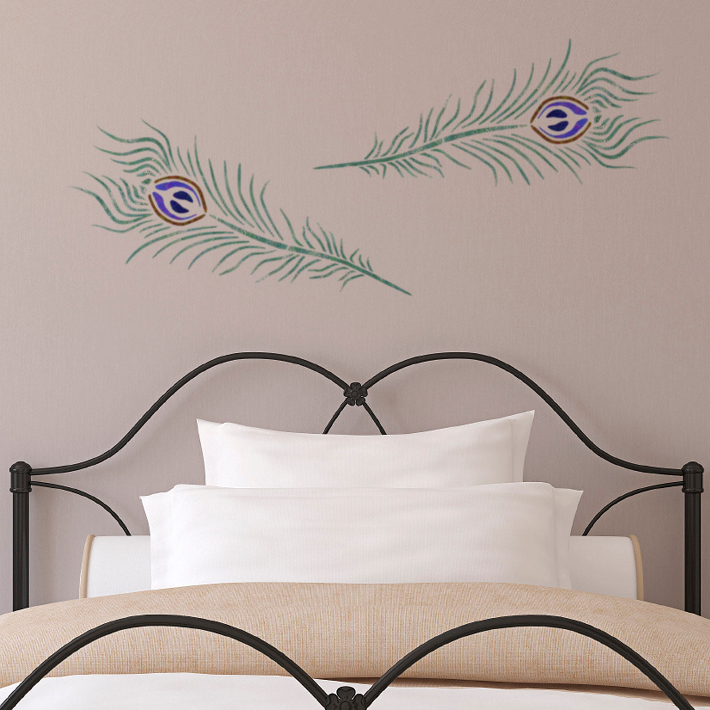 CraftStar Peacock Feather Wall Stencil