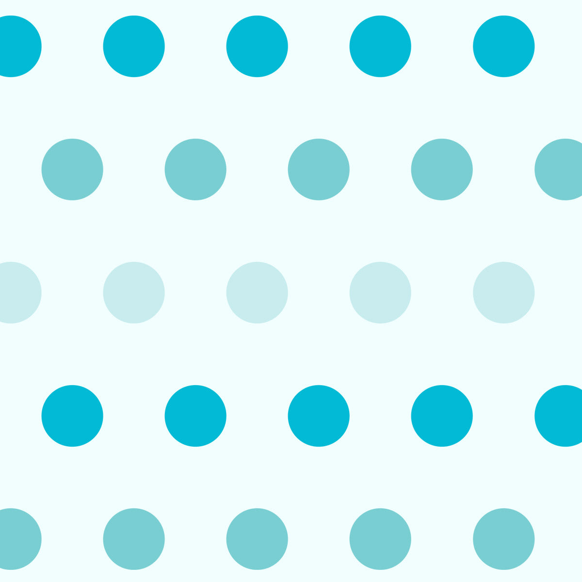 Large Polka Dot Pattern Wall Stencil in Blues Close up