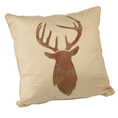 CraftStar Stag Head Stencil on Fabric Pillow