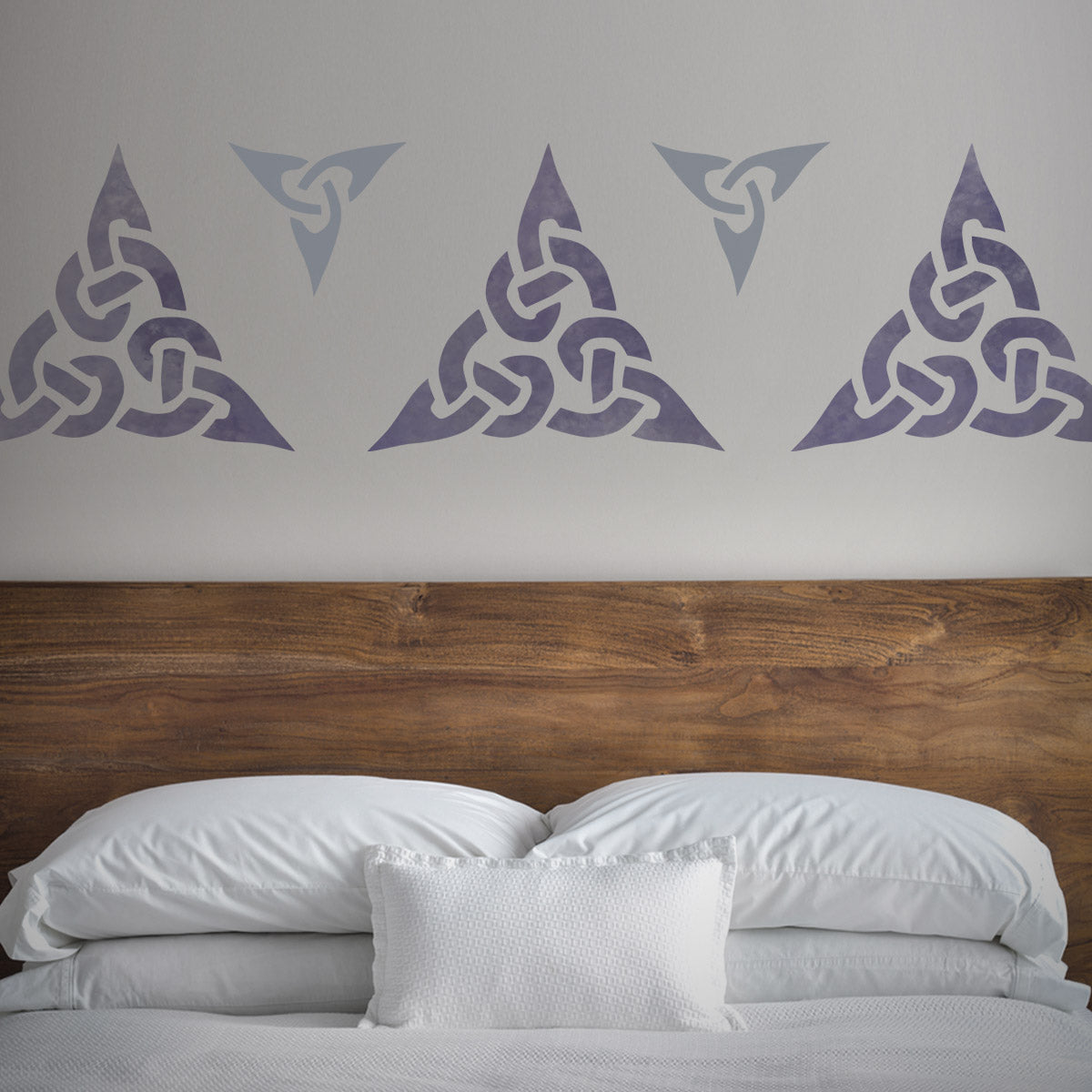 CraftStar Celtic Trinity Knot Stencil Set in Purples