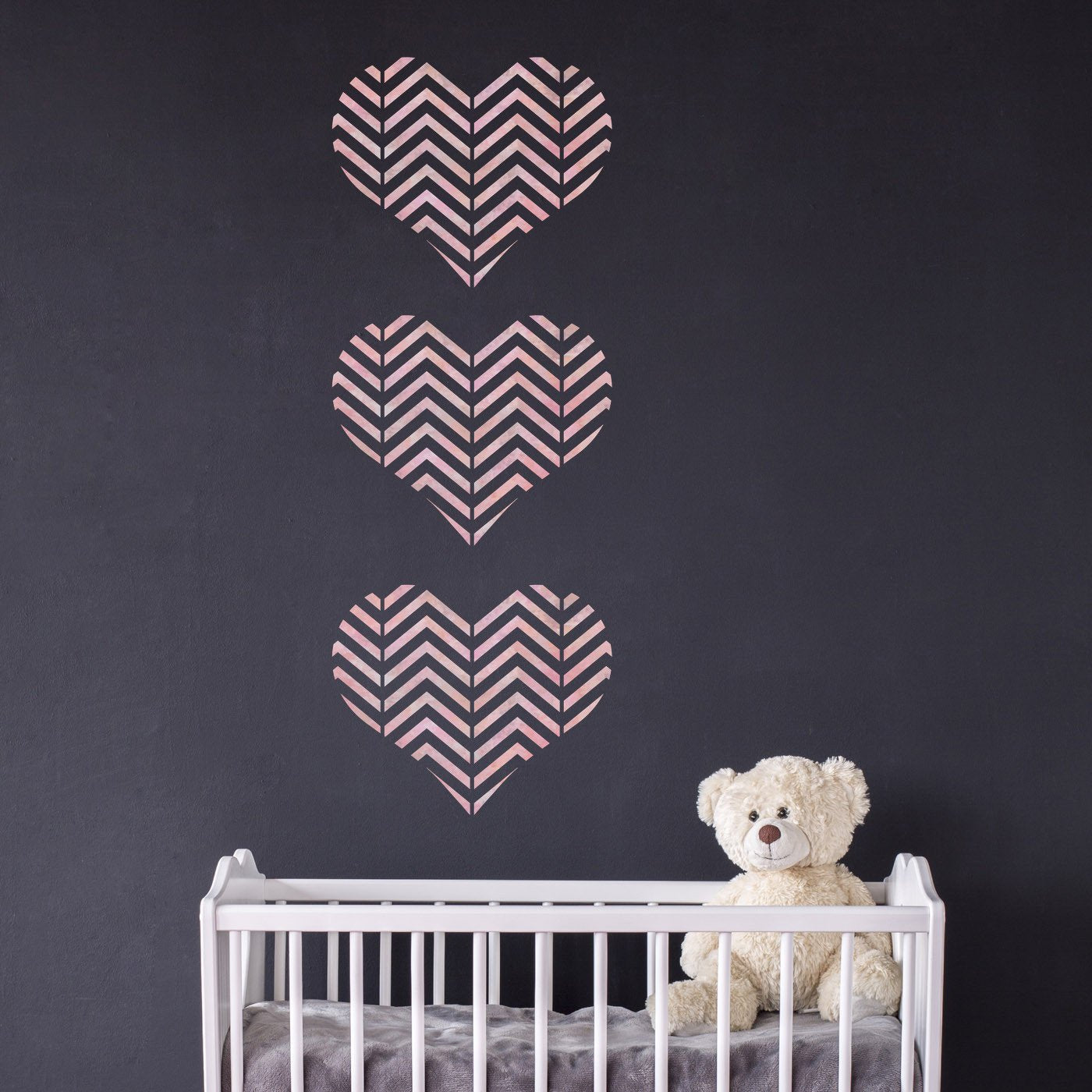 CraftStar Zig Zag Pattern Heart Stencil in Nursery