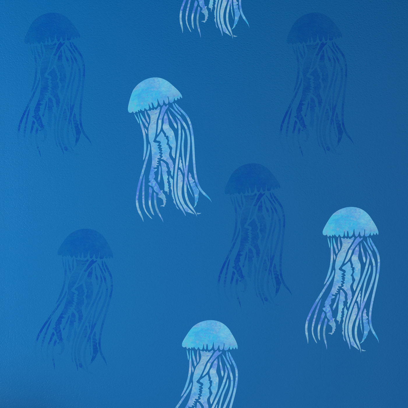CraftStar Mauve Stinger Jellyfish Stencil in Blue