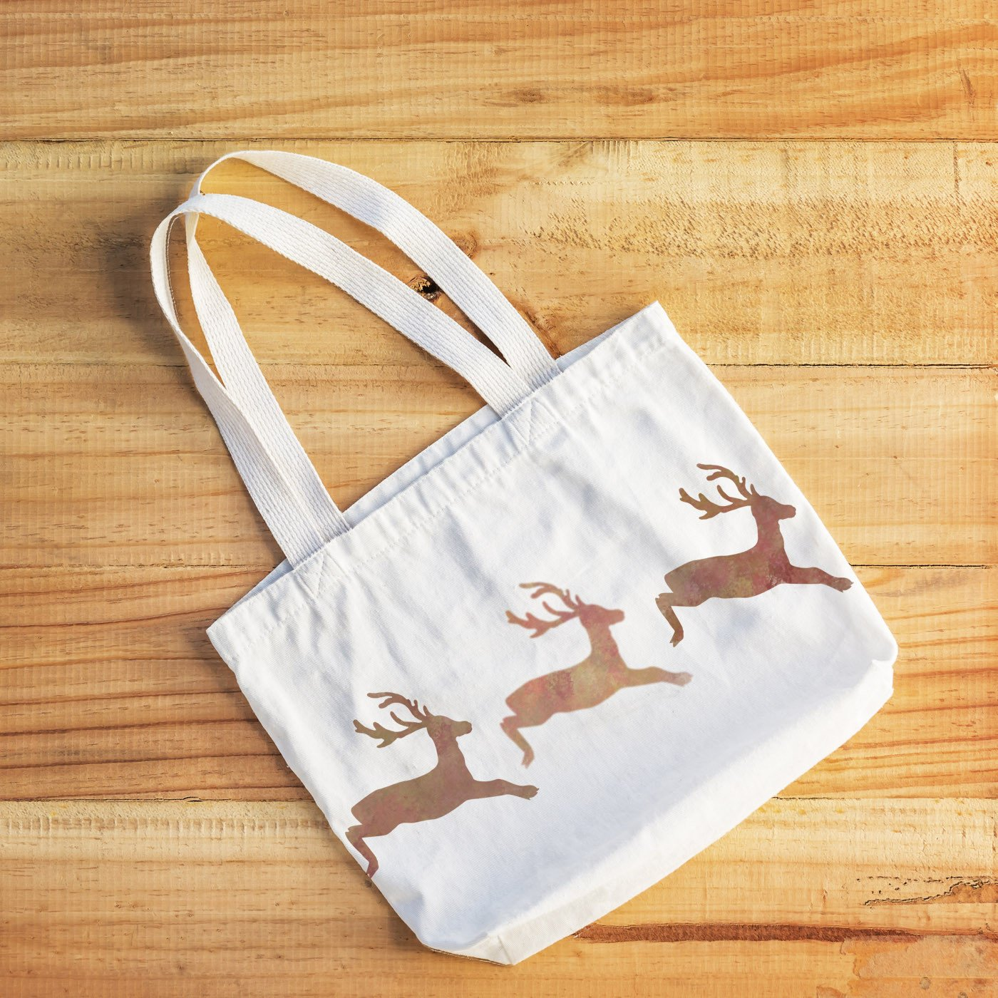 CraftStar Leaping Stag Stencil on fabric