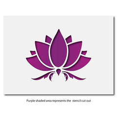 CraftStar Lotus Flower Stencil Layout