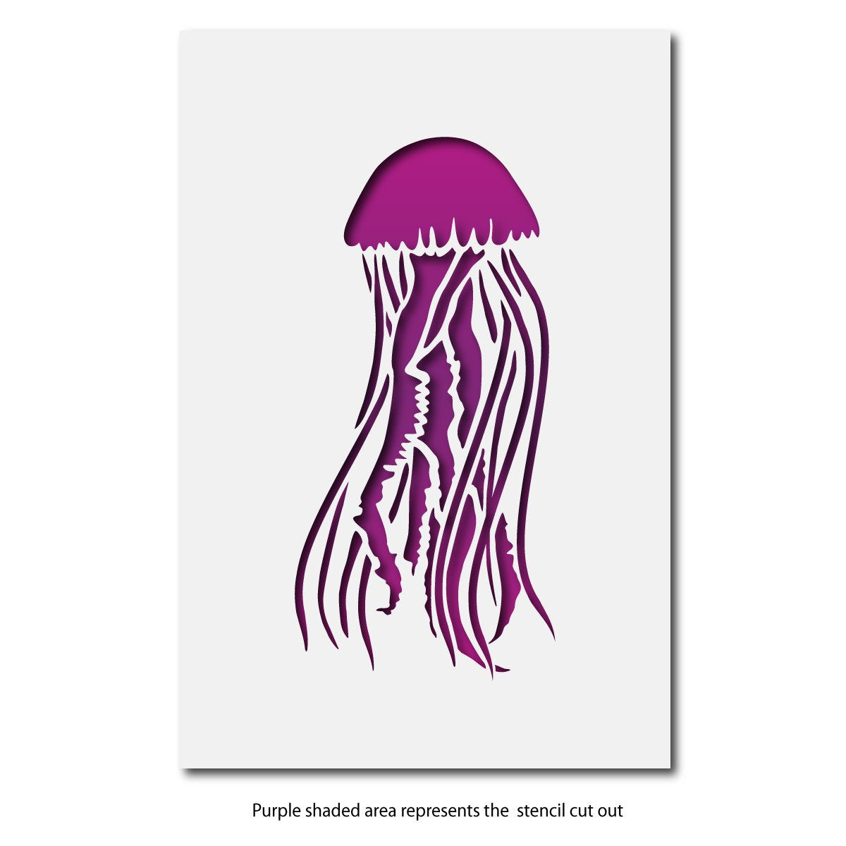 CraftStar Mauve Stinger Jellyfish Stencil Layout