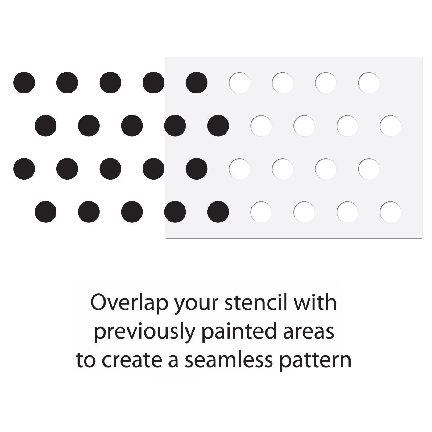 Small Polka Dot Seamless Pattern Stencil Guide